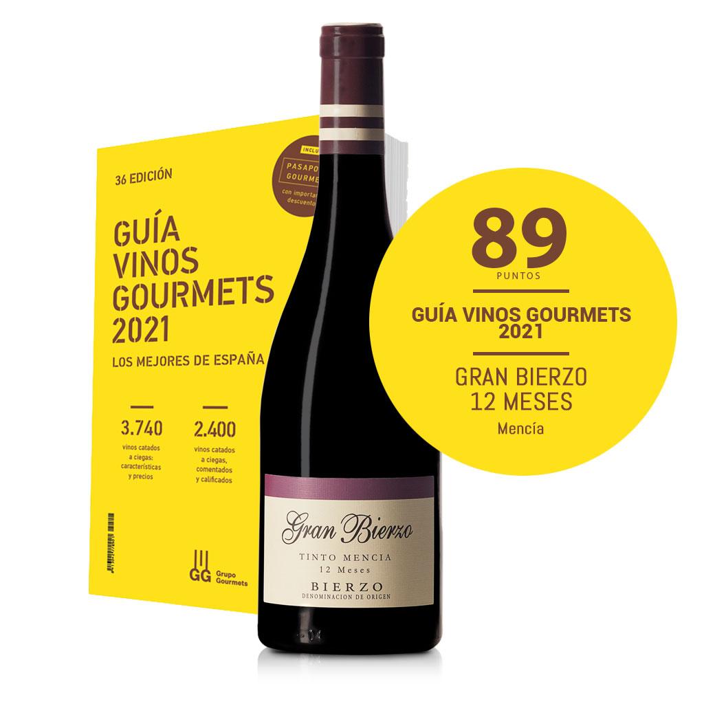 Guía vinos gourmet 2021. Gran Bierzo 12 meses